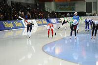 SPEEDSKATING: SALT LAKE CITY: 08-12-2017, Utah Olympic Oval, ISU World Cup, Mass Start Ladies, Semi-Final, Nikola  Zdráhalova (#29 | CZE), Luiza  Zlotkowska (#32 | POL), Francesca  Lollobrigida (#21 | ITA), ©photo Martin de Jong
