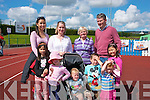 Enjoying the Tralee and district canine club organised dog show in Castleisland last Saturday afternoon were (front)L-R Mary Murphy,Aoife Morrison,Dara&Patrick Leen,Orla Morrison with Audrey Murphy (back)L-R Susanna Murphy,Grainne Morrison,Pat Bann-Lavery and Declan Murphy all from the town.