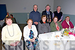Marg Davis, Betty Scanlon, Bride Dowling, Julie Kirby, Mairead Mcelligott,  Gerald Hicky Thomas O'Brien and Tony Scanlon enjoying thee Ardfert Community Centre Tea Dance on Sunday