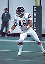 Chicago Bears Doug Plank (45) in action during a game against the Philadelphia Eagles on October 26, 1980 at Veterans Stadium in Philadelphia, Pennsylvania. The Eagles beat the Bears 17-14.