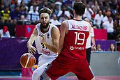 7th September 2017, Fenerbahce Arena, Istanbul, Turkey; FIBA Eurobasket Group D; Latvia versus Turkey; Center Furkan Aldemir of Turkey blocks Shooting Guard Zanis Peiners #31 of Latvia