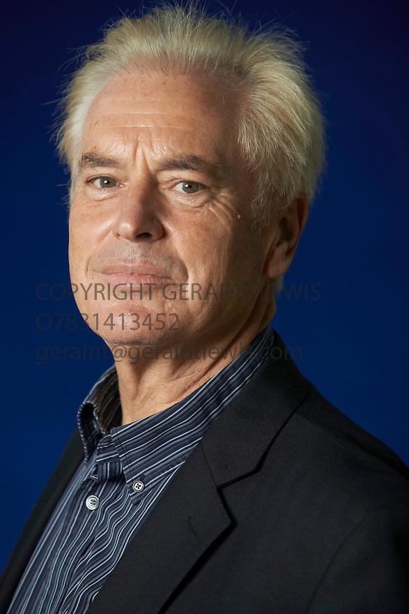 Ian Robertson neuroscientist, clinical psychologist  and writer   of The Winner Effect at The Edinburgh International Book Festival   . Credit Geraint Lewis