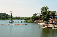 Columbia:  Artificial lake near Town Center. It's called Lake Kittamagundi.  Photo '85.