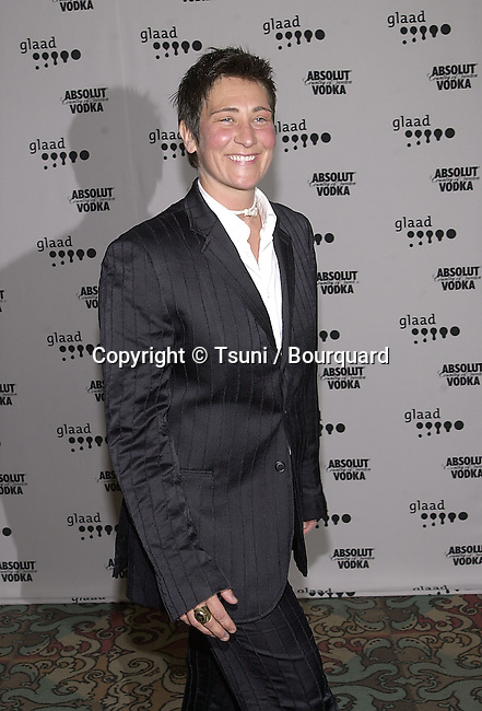 k.d. Lang arriving at The 12th GLAAD Awards honoring individuals and projects for their representations of Gay, Lesbians, Bisexual and Transexual at the Century Plaza in Los Angeles  4/29/2001  © Tsuni          -            Lang.k.d.04.jpg