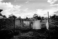 .colombia1086 ? Displacement camp. El Choco, July 2002.<br />