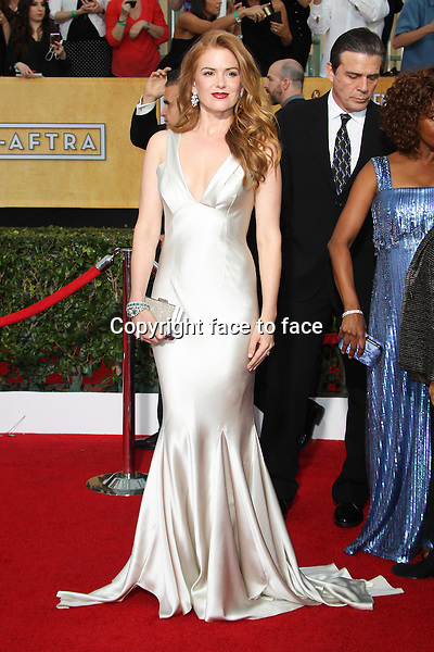 LOS ANGELES, CA - JANUARY 18: Isla Fisher attending the 2014 SAG Awards in Los Angeles, California on January 18, 2014.<br /> Credit: RTNUPA/MediaPunch<br /> Credit: MediaPunch/face to face<br /> - Germany, Austria, Switzerland, Eastern Europe, Australia, UK, USA, Taiwan, Singapore, China, Malaysia, Thailand, Sweden, Estonia, Latvia and Lithuania rights only -