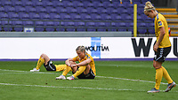 20190810 - ANDERLECHT, BELGIUM : LSK's Sophie Haug (middle) pictured looking dejected and disappointed after losing the female soccer game between the Belgian RSCA Ladies – Royal Sporting Club Anderlecht Dames  and the Norwegian LSK Kvinner Fotballklubb ladies , the second game for both teams in the Uefa Womens Champions League Qualifying round in group 8 , saturday 10 th August 2019 at the Lotto Park Stadium in Anderlecht  , Belgium  .  PHOTO SPORTPIX.BE for NTB NO | DAVID CATRY