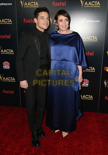 04 January 2019 - West Hollywood California - Rami Malek and Olivia Colman. 8th AACTA International Awards held at Skybar at Mondrian Los Angeles.         <br /> CAP/ADM/FS<br /> ©FS/ADM/Capital Pictures