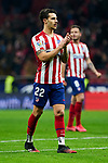 Mario Hermoso of Atletico de Madrid during La Liga match between Atletico de Madrid and Granada CF at Wanda Metropolitano Stadium in Madrid, Spain. February 08, 2020. (ALTERPHOTOS/A. Perez Meca)