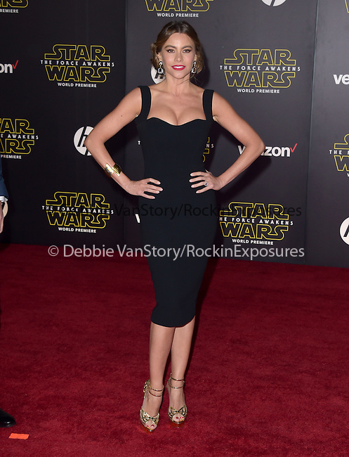 Sofia Vergara Manganiello<br /> <br /> <br />  at Star Wars: The Force Awakens World Premiere held at El Capitan Theatre in Hollywood, California on December  14,2015                                                                   Copyright 2015Hollywood Press Agency