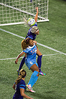 Orlando, FL - Saturday July 16, 2016: Casey Short, Kaylyn Kyle during a regular season National Women's Soccer League (NWSL) match between the Orlando Pride and the Chicago Red Stars at Camping World Stadium.