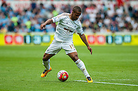 Wayne Routledge of Swansea City  in action during the Barclays Premier League match between Swansea City and Manchester City played at the Liberty Stadium, Swansea on the 15th of May  2016