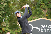 Nicolas Colsaerts (BEL) in action on the 2nd hole during the third round of the 76 Open D'Italia, Olgiata Golf Club, Rome, Rome, Italy. 12/10/19.<br /> Picture Stefano Di Maria / Golffile.ie<br /> <br /> All photo usage must carry mandatory copyright credit (© Golffile | Stefano Di Maria)