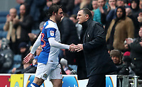 Blackburn Rovers' Bradley Dack with Blackburn Rovers manager Tony Mowbray <br /> <br /> Photographer Rachel Holborn/CameraSport<br /> <br /> The EFL Sky Bet League One - Blackburn Rovers v Blackpool - Saturday 10th March 2018 - Ewood Park - Blackburn<br /> <br /> World Copyright &copy; 2018 CameraSport. All rights reserved. 43 Linden Ave. Countesthorpe. Leicester. England. LE8 5PG - Tel: +44 (0) 116 277 4147 - admin@camerasport.com - www.camerasport.com