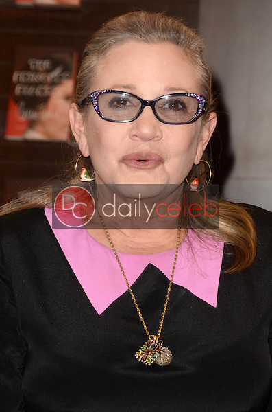"""Carrie Fisher<br /> at the Carrie Fisher book signing for """"The Princess Diarist,"""" Barnes & Noble, Los Angeles, CA 11-28-16<br /> David Edwards/DailyCeleb.com 818-249-4998"""