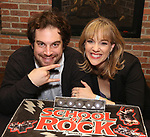 Justin Collette and Analisa Leaming attends the 'School of Rock' Celebrates Two Years on Broadway at the Brazen Tavern in New York City.