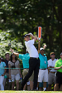 Gainesville, VA - August 2, 2015:    Jimmy Walker tee shot on  hole 8  at the Robert Trent Jones Golf Club in Gainesville, VA. August 2, 2015.  (Photo by Elliott Brown/Media Images International)