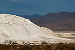 Piles of borax chemicals at Trona, California