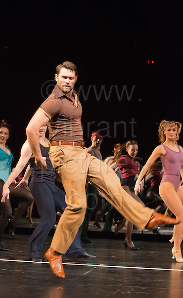 "8 February 2013, London, England, UK. John Partridge dancing. The Musical ""A CHORUS LINE"" opens at the London Palladium, starring John Partridge and Scarlett Strallen. Photo: Bettina Strenske"