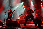 WEST PALM BEACH, FL - MAY 11: Tom Araya and Kerry King of Slayer perform at The Coral Sky Amphitheatre on May 11, 2019 in West Palm Beach Florida. Credit Larry Marano © 2019