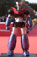 Il robot Maligna Z sul red carpet in occasione della presentazione del film &quot;Mazinga Z Infinity&quot; alla Festa del Cinema di Roma , 27 0ttobre 2017.<br /> Mazinga Z robot on the red carpet for the movie &quot;Mazinga Z Infinity&quot; during the international Rome Film Festival at Rome's Auditorium, October 27, 2017.<br /> UPDATE IMAGES PRESS