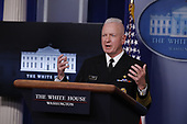 Admiral Brett Giroir, United States Assistant Secretary for Health, speaks during a news conference at the White House in Washington D.C., U.S. on Monday, April 20, 2020. <br /> Credit: Tasos Katopodis / Pool via CNP