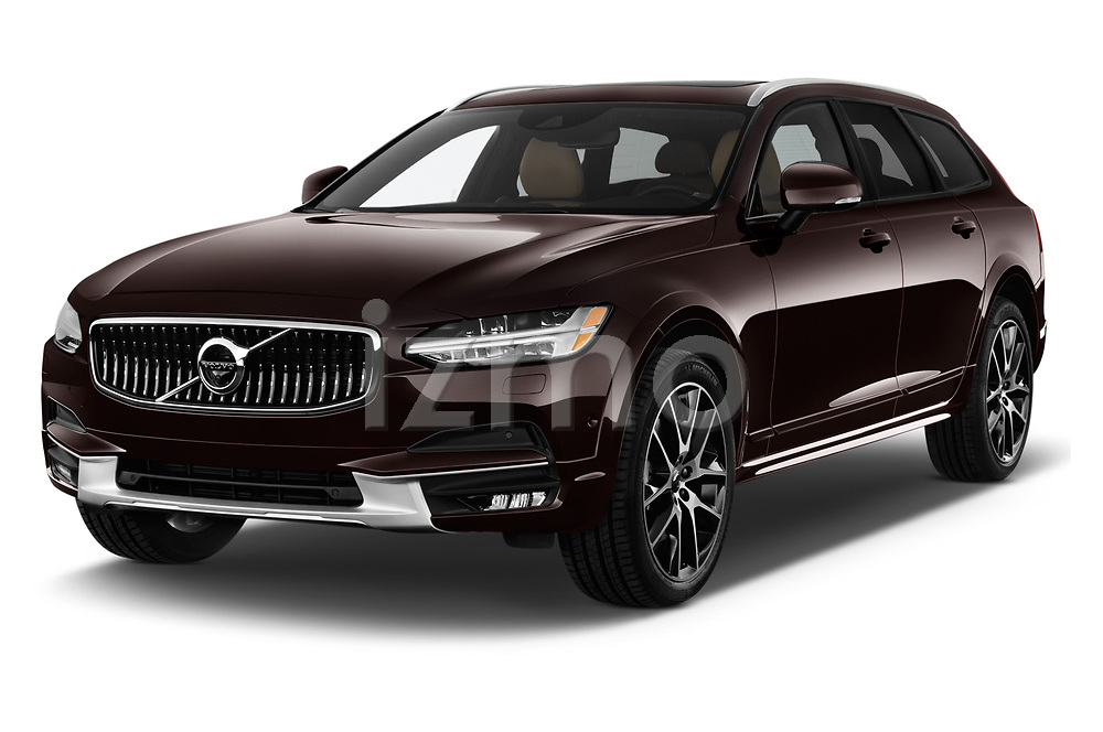 2018 Volvo V90 Corss Country Pro 5 Door Wagon angular front stock photos of front three quarter view