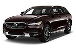2017 Volvo V90 Corss Country Pro 5 Door Wagon angular front stock photos of front three quarter view