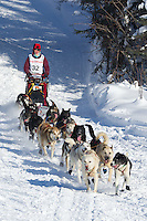 Anjanette Steer on Long Lake at the Re-Start of the 2012 Iditarod Sled Dog Race
