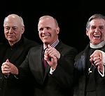 Playwright Bernard Pomerance, Director Scott Ellis and Anthony Heald during the Broadway Opening Night Performance Curtain Call for 'The Elephant Man' at the Booth  Theatre on December 7, 2014 in New York City.