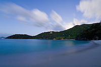 Hawksnest Beach at dusk.Virgin Islands National Park.St. John, US Virgin Islands