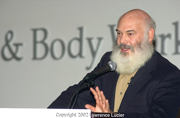 NEW YORK-NOVEMBER 6: Dr. Andrew Weil appears at the Bath & Body Works Well-Being Summit November 6, 2002, at the Waldorf=Astoria in New York City.