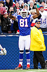 29 November 2009: Buffalo Bills wide receiver Terrell Owens celebrates his touchdown during a game against the Miami Dolphins at Ralph Wilson Stadium in Orchard Park, New York. The Bills defeated the Dolphins 31-14. Mandatory Credit: Ed Wolfstein Photo