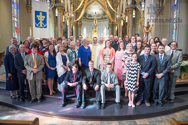 Apr. 11, 2015; 2015 Ordination Mass.  (Photo by Barbara Johnston/University of Notre Dame)