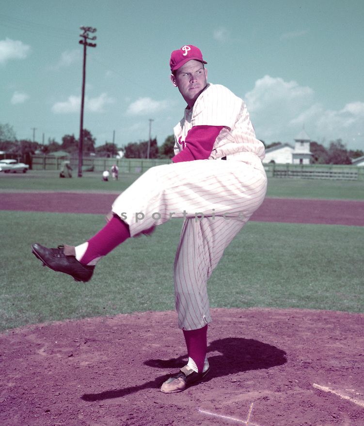 Philadelphia Philles Robin Roberts (36) portrait from his 1956 season with the Philadelphia Philles. Robin Roberts played for 19 years with 4 different teams. Robin Roberts was a 7-time All-Star and was inducted to the Baseball Hall of Fame in 1976.