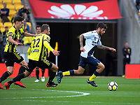 CCM's Daniel De Silva in action during the A-League football match between Wellington Phoenix and Central Coast Mariners at Westpac Stadium in Wellington, New Zealand on Saturday, 25 November 2017. Photo: Dave Lintott / lintottphoto.co.nz