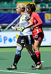 The Hague, Netherlands, June 13: Lydia Haase #12 of Germany looks on during the field hockey placement match (Women - Place 7th/8th) between Korea and Germany on June 13, 2014 during the World Cup 2014 at Kyocera Stadium in The Hague, Netherlands. Final score 4-2 (2-0)  (Photo by Dirk Markgraf / www.265-images.com) *** Local caption *** Lydia Haase #12 of Germany, Kiju Park #20 of Korea