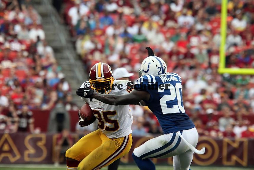 Leonard Hankerson (Redskins) gegen CB Cassius Vaughn (Colts)