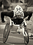 Marine Corps Wounded Warrior, Peter Park, competes during the 2011 Warrior Games, U.S. Olympic Training Center, Colorado Springs, CO.
