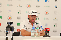 Graeme McDowell (NIR) in a press conference during the ProAm Day of the 2018 Dubai Duty Free Irish Open, Ballyliffin Golf Club, Ballyliffin, Co Donegal, Ireland.<br /> Picture: Golffile | Jenny Matthews<br /> <br /> <br /> All photo usage must carry mandatory copyright credit (&copy; Golffile | Jenny Matthews)