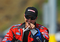 Jun. 19, 2011; Bristol, TN, USA: NHRA funny car driver Bob Tasca III during eliminations at the Thunder Valley Nationals at Bristol Dragway. Mandatory Credit: Mark J. Rebilas-