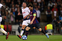 Lionel Messi of FC Barcelona scores the fourth goal during Tottenham Hotspur vs FC Barcelona, UEFA Champions League Football at Wembley Stadium on 3rd October 2018