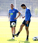 04.09.2019, Sportpark, Berlin, GER, 1.FBL, DFL,, Hertha BSC Training,<br /> DFL, regulations prohibit any use of photographs as image sequences and/or quasi-video<br /> im Bild Marius Wolf (Hertha BSC Berlin #44), Marko Grujic (Hertha BSC Berlin #15)<br /> <br />       <br /> Foto © nordphoto / Engler