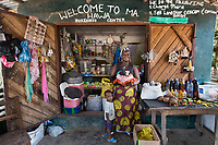 Hawa, Shop Vendor, Monrovia, Liberia 2014<br /> Hawa Edwards took a small loan from a microfinance program to build her general store business in Monrovia, Liberia. She makes about $100 per month and uses the profits to support her family.