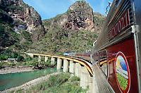 South Orient Express on Temoris Bridge across Rio Septentrion.