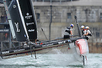 Jimmy Spithill (AU) of Oracle Team USA, JULY 24, 2016 - Sailing: Jimmy Spithill (AU) of Oracle Team USA during day two of the Louis Vuitton America's Cup World Series racing, Portsmouth, United Kingdom. (Photo by Rob Munro/Stewart Communications)