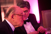 United States Secretary of the Treasury Jack Lew talks to former Federal Reserve Chairman Ben Bernanke during a dinner for Medal of Freedom awardees at the Smithsonian National Museum of American History on November 20, 2013 in Washington, D.C. <br /> Credit: Kevin Dietsch / Pool via CNP