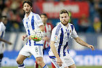Real Sociedad's Esteban Granero (l) and Asier Illarramendi during La Liga match. March 1,2016. (ALTERPHOTOS/Acero)