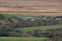 Pictured: Borth Wild Animal Kingdom (formerly Borth Animalarium) , Ceredigion Wales UK. Monday 30 October 2017<br /> Re: The search continues for Lillith, a juvenile European Lynx, (latin name Lynx Lynx) which escaped from its enclosure at Both Wild Animal Kingdom.  A police helicopter with thermal imaging cameras spotted the animal  in undergrowth near the zoo in the  3early evening yesterday, raising hopes that the creature has gone to ground close to its home