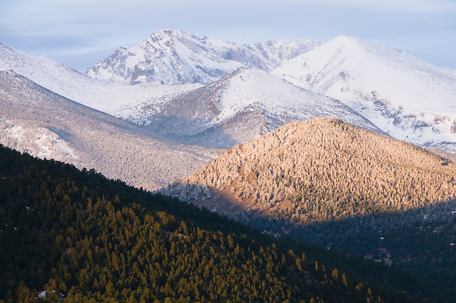 Elm Road staging area for utuilities and roads, town of Estes Park, Estes Park, Colorado, Rocky Mountains, USA